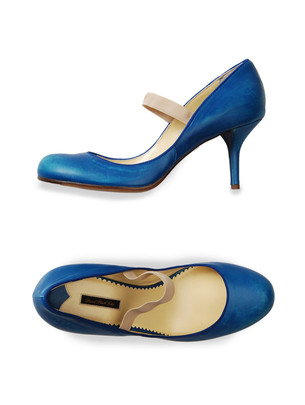 FLAMENCO -  Diesel Black Gold  :  blue maryjane diesel black gold heels